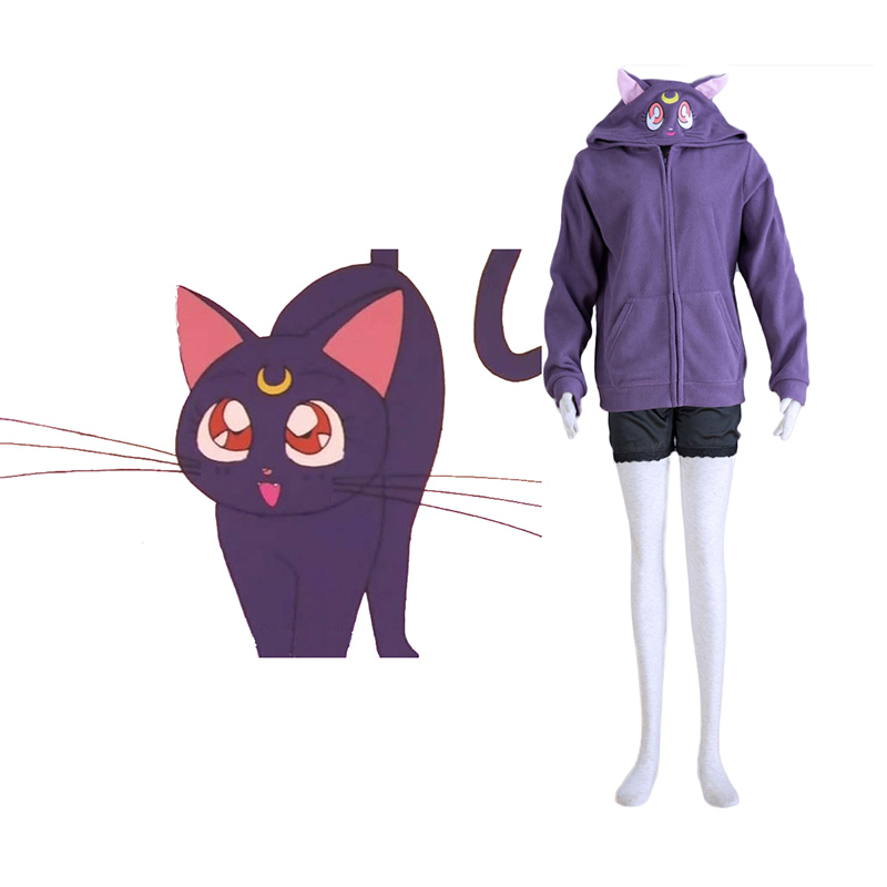 Sailor Moon Svart Cat Luna Cosplay Kostymer Online Butikken