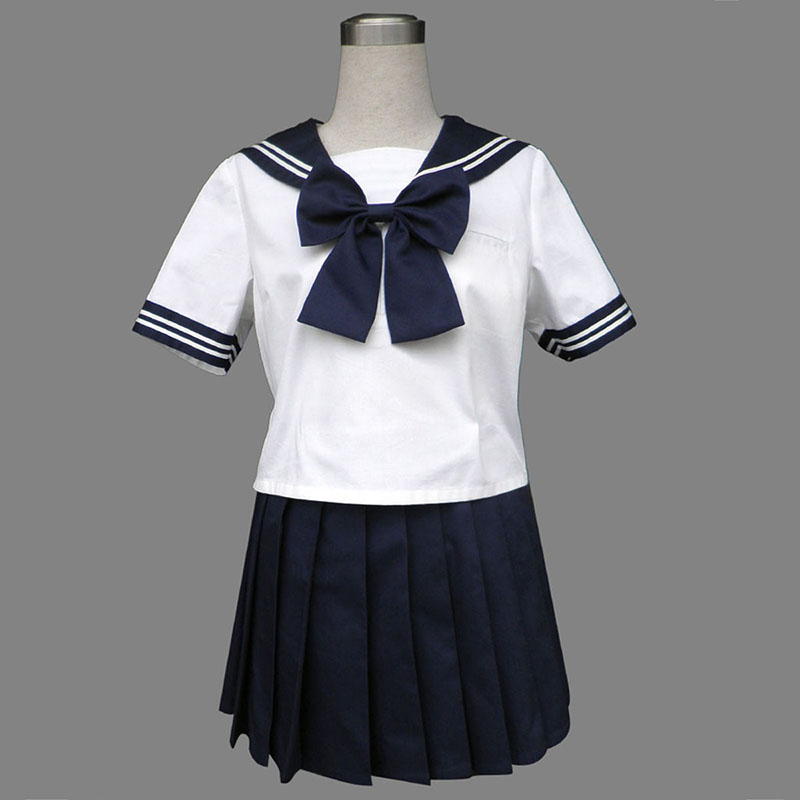 Royal Blå Short Sleeves Sailor Uniform 8 Cosplay Kostymer Online Butikken