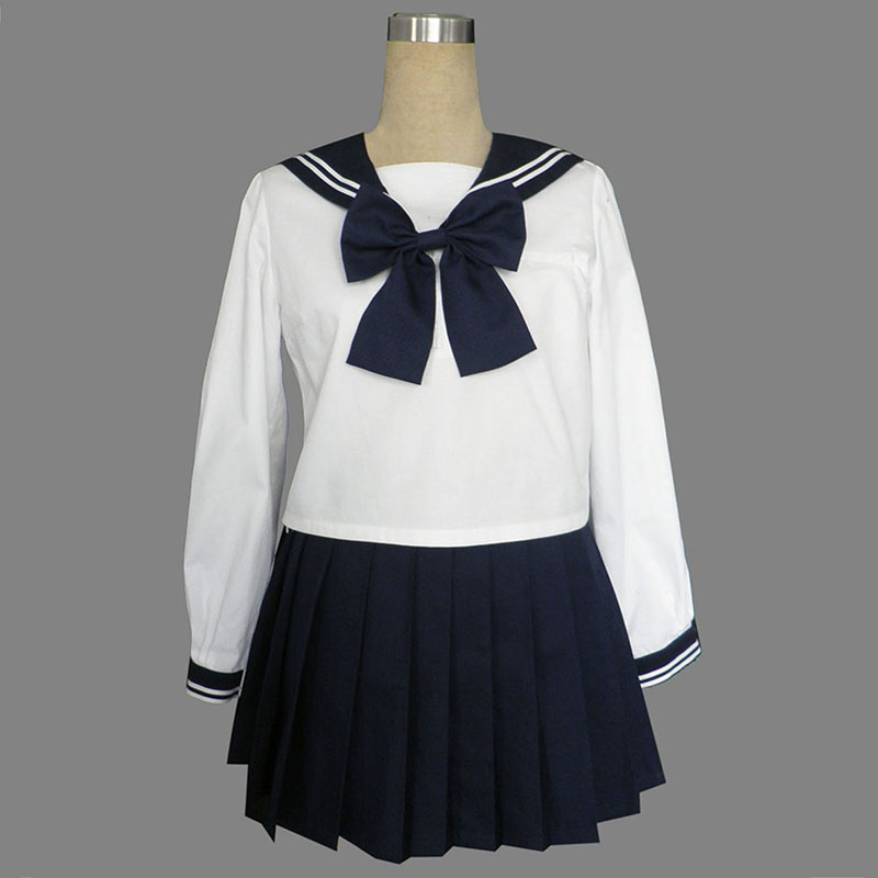 Long Sleeves Sailor Uniform 9 Cosplay Kostymer Online Butikken