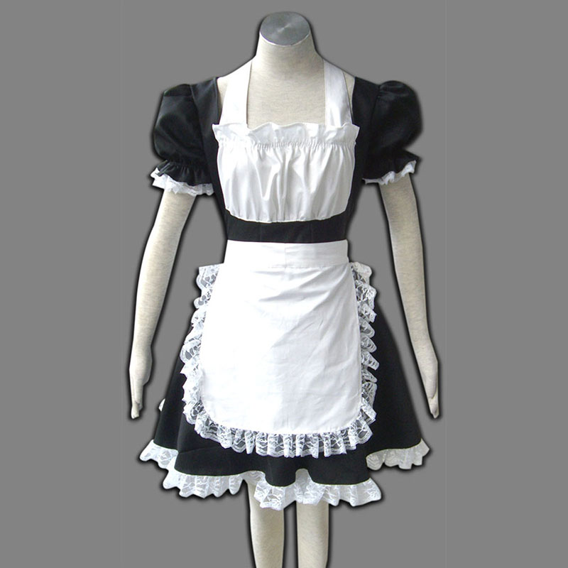 Maid Uniform 2 Svart Winged Angle Cosplay Kostymer Online Butikken