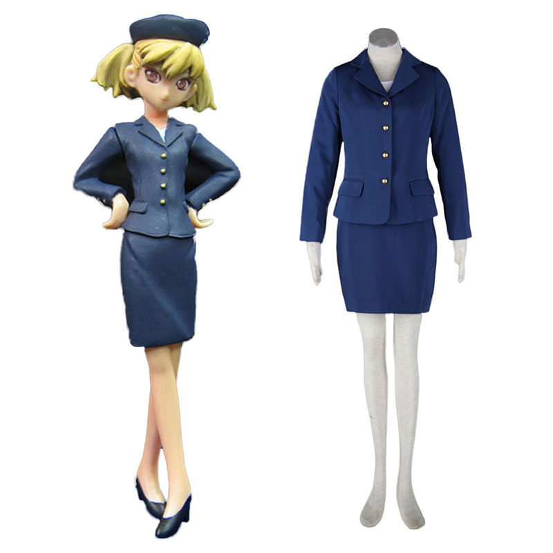 Aviation Uniform Kultur flyvertinne 3 Cosplay KostymerOnline Butikken
