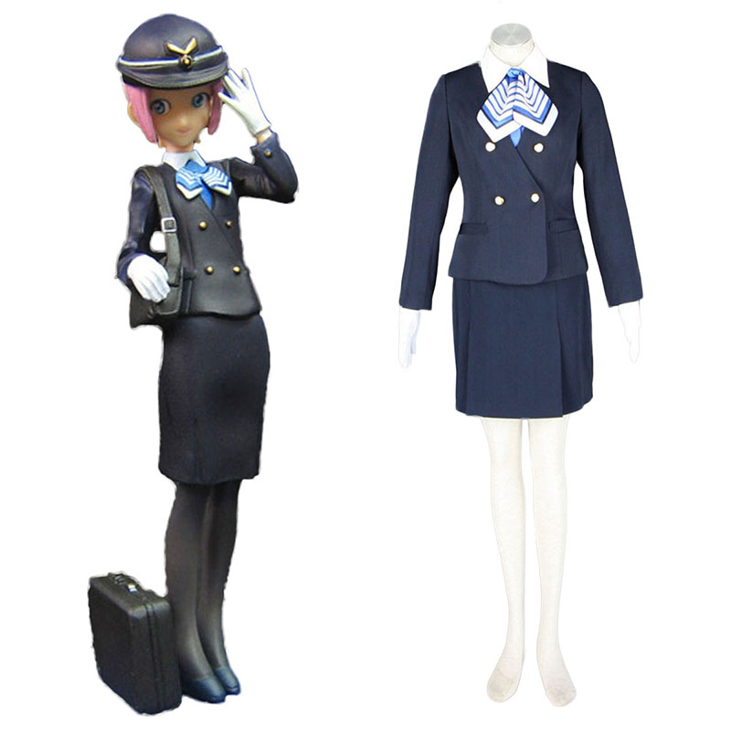Aviation Uniform Kultur flyvertinne 7 Cosplay KostymerOnline Butikken