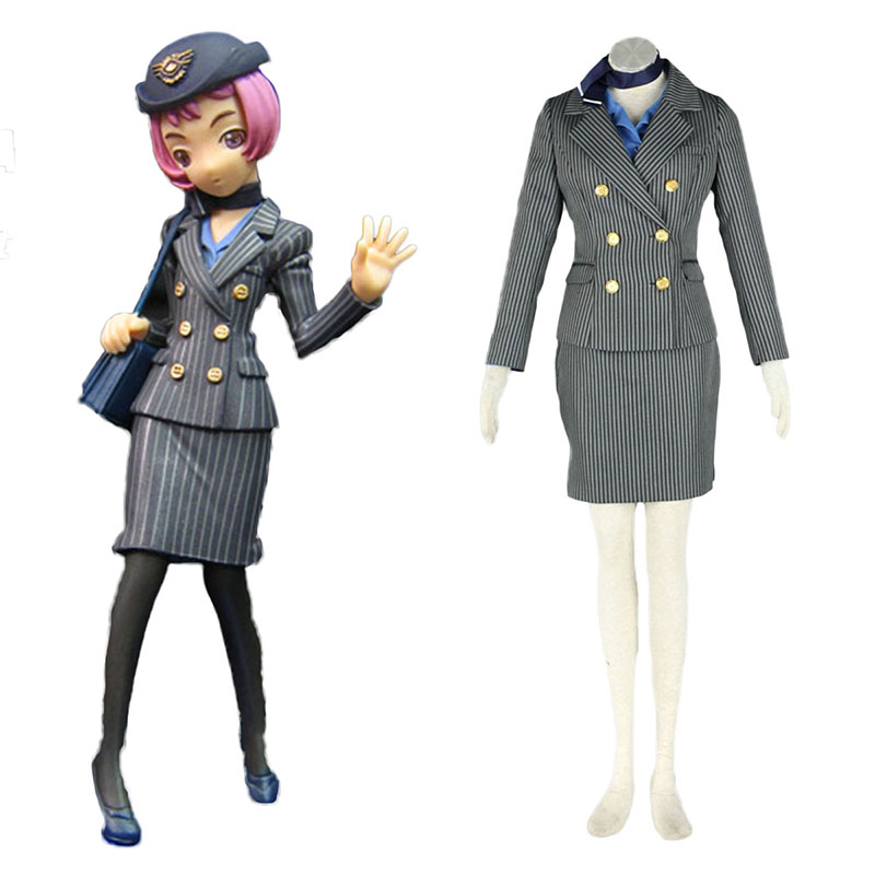 Aviation Uniform Kultur flyvertinne 8 Cosplay KostymerOnline Butikken