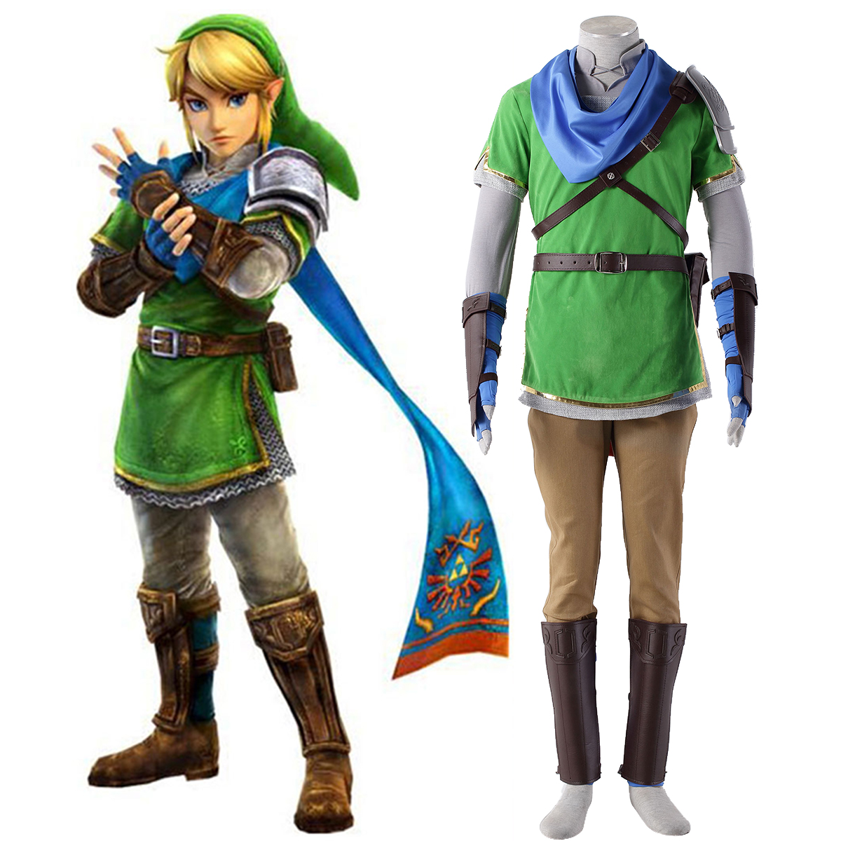The Legend of Zelda Hyrule-Warriors Link 5 Cosplay Kostymer Online Butikken