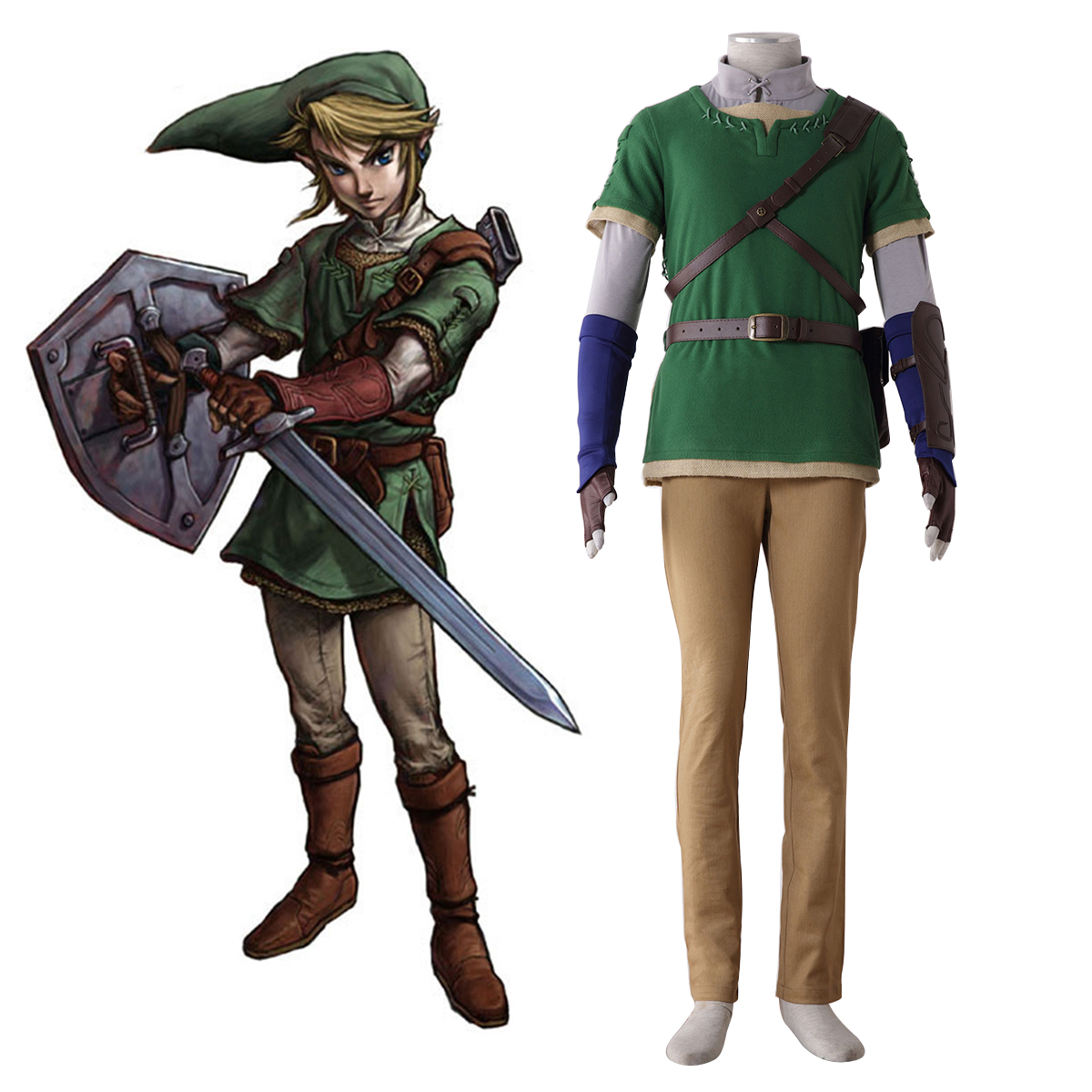 The Legend of Zelda Twilight Princess Link 4 Cosplay Kostymer Online Butikken