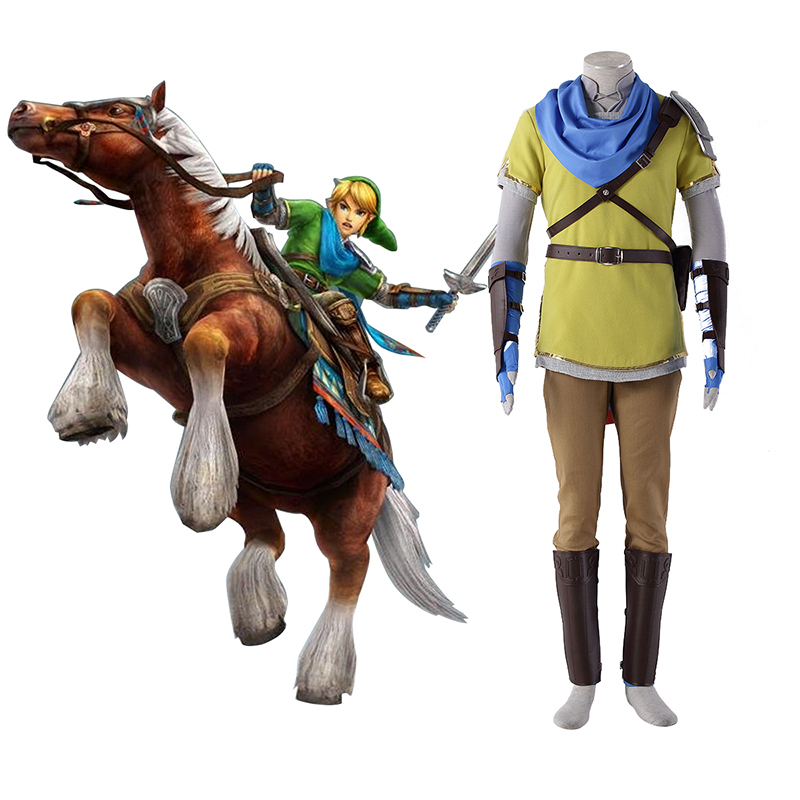 The Legend of Zelda Hyrule-Warriors Link 7 Gul Cosplay Kostymer Online Butikken