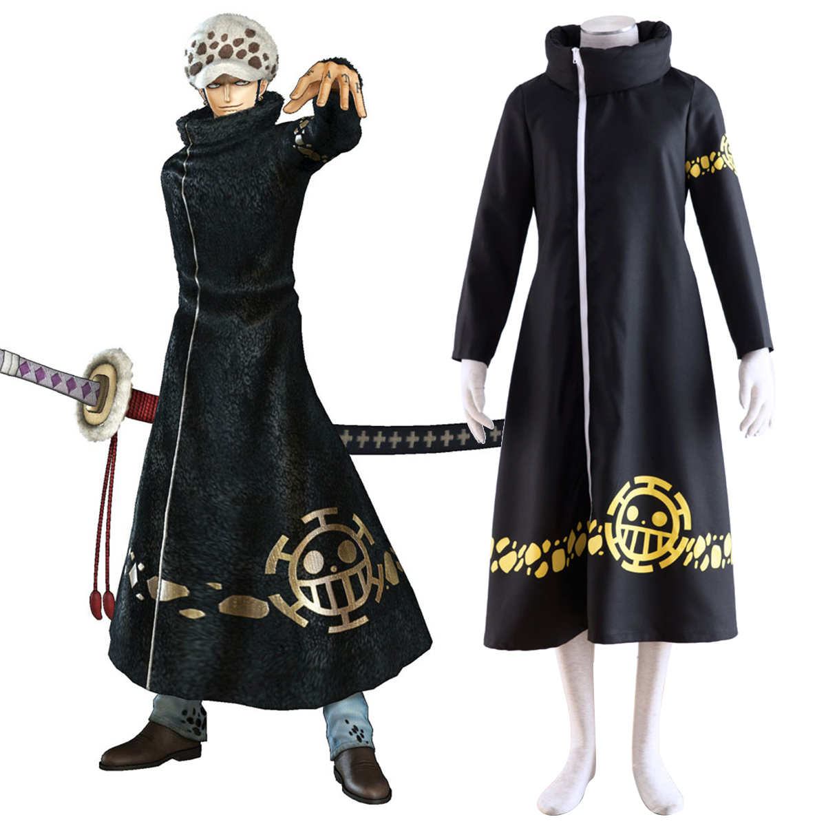One Piece Trafalgar Law 2 Cosplay Kostymer Online Butikken