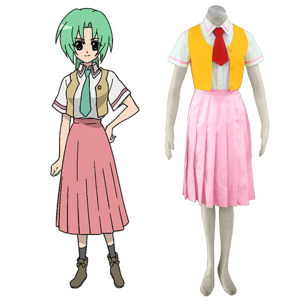 Higurashi When They Cry Sonozaki Mion 1 Cosplay Kostymer Online Butikken