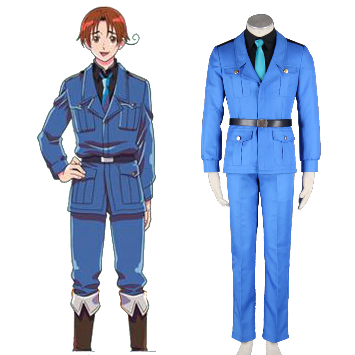 Axis Powers Hetalia APH North Italy Feliciano Vargas 3 Cosplay Kostymer Online Butikken