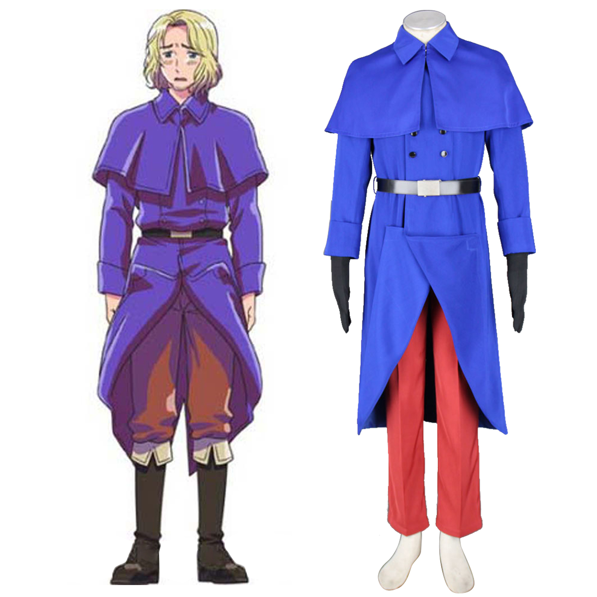 Axis Powers Hetalia France Francis Bonnefeuille 1 Cosplay Kostymer Online Butikken