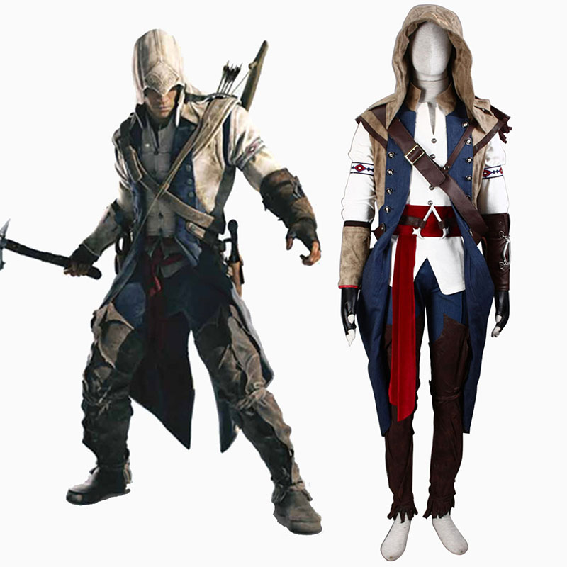 Assassin's Creed III Assassin 7 Cosplay Kostymer Online Butikken