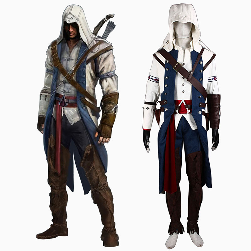 Assassin's Creed III Assassin 8 Cosplay Kostymer Online Butikken