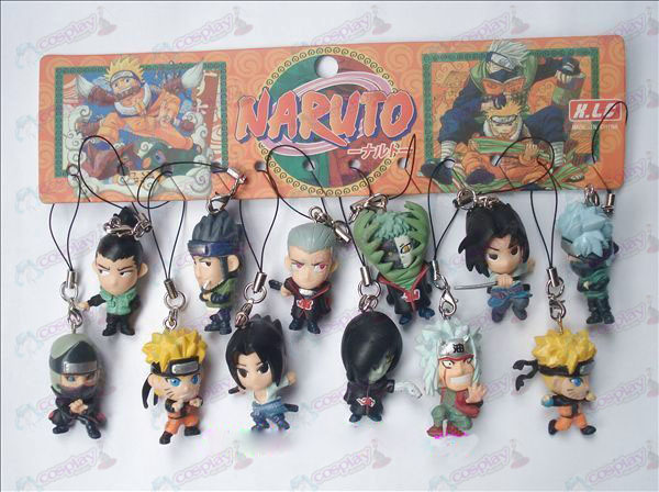 12 Naruto Doll Machine Rope (12 / sett)