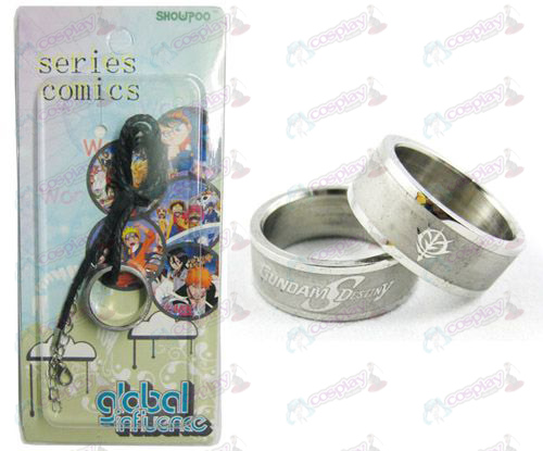 Gundam Tilbehør Frosted Ring Necklace - Rope