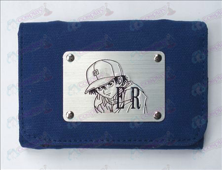 The Prince of Tennis Tilbehør Hvit Canvas Wallet (Blå)