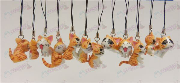 12 Søt Cat Tilbehør Toy Machine Strap (Orange)