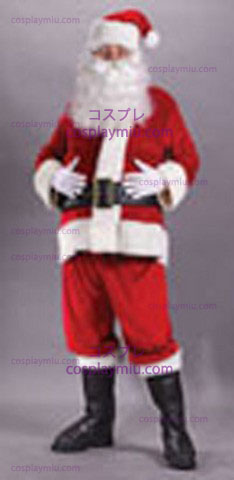 Red i Santa Suit Rich Velvet Plus S