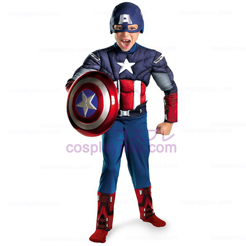 The Avengers Captain America Classic Muscle Chest Child Kostymer