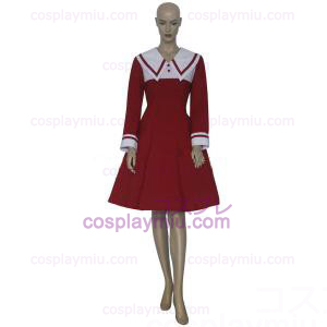 Chobits Chii Red Dress Cosplay Kostymer