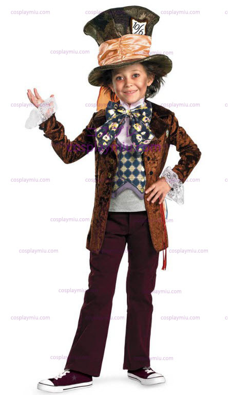 Mad hatterter Movie Deluxe Child Kostymer