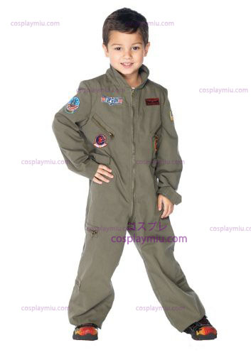 Top Gun Flight Suit Kids Kostymer