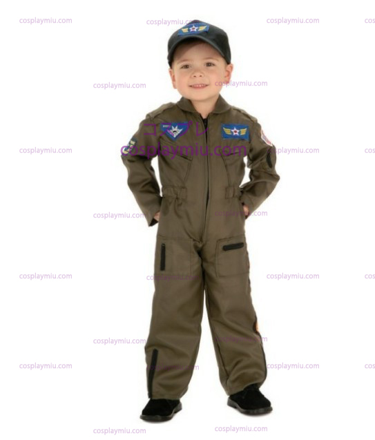 Kid Air Force Fighter Pilot Top Gun Halloween Kostymer