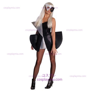 Lady Gaga Black Dress - paljett