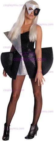 Lady Gaga Blk Sequin Dress Xs
