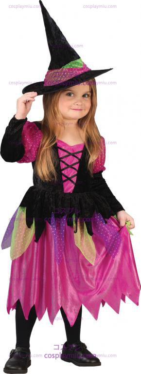 Rainbow Witch Toddler Kostymer
