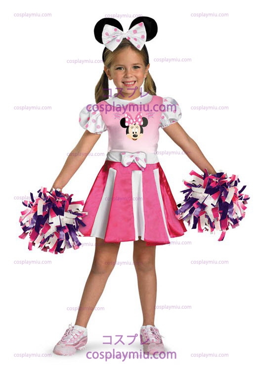 Minnie Mus Cheerleader Toddler and Child Kostymer