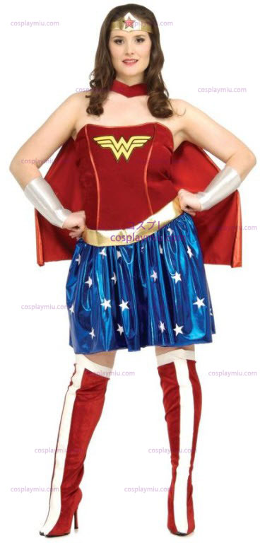 Wonder Woman Plus Size Adult Kostymer