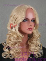 "20 ""Natural Blond Curly Midpart Cosplay Wig"