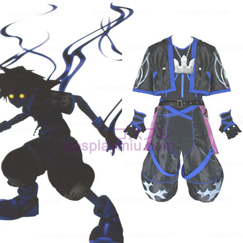 Kingdom Hearts 2 Anti Sora Menn Cosplay Kostymer