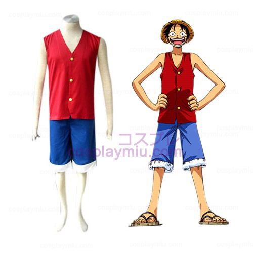 One Piece Ruffy Cosplay Kostymer