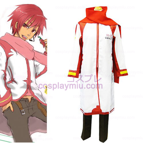 Vocaloid Akaito Red and White Cosplay Kostymer