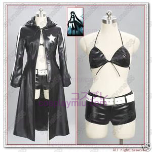 Vocaloid Black Rock Shooter Cosplay Kostymer
