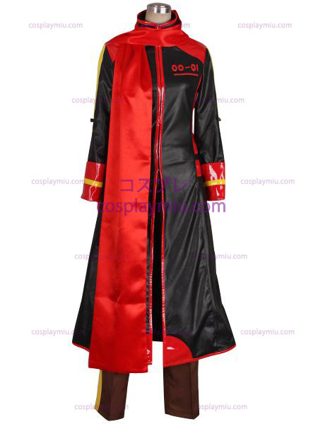 Vocaloid Akaito Red and Black Cosplay Kostymer
