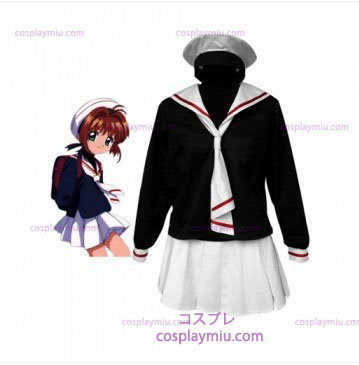 Cardcapture Sakura Tomoe Primary School Girls Cosplay Kostymer