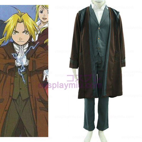 Fullmetal Alchemist Edward 2th Cotton Polyester Cosplay Kostymer