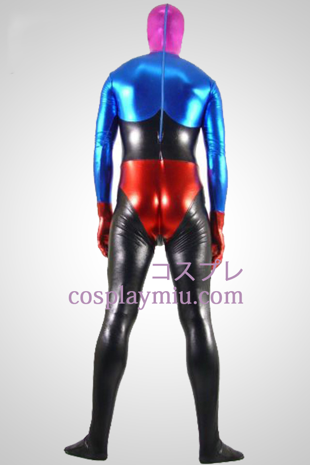 Shiny Metallic Fire colers Unisex Zentai Suit