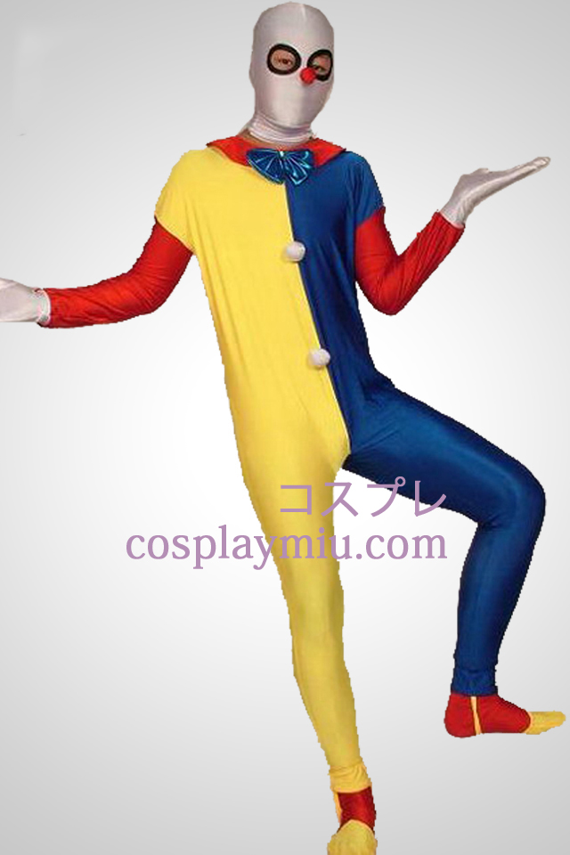 Multicolor Clown Zentai Suit