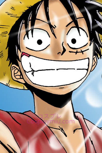 One Piece Monkey D. Ruffy Kort Cosplay parykk